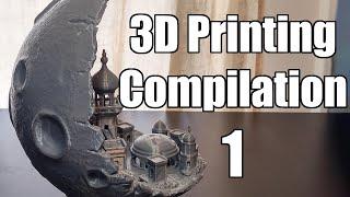 3D Printing Timelapse Compilation - Bender, Moon City 2.0, A Lithophane Lamp and Julius Caesar