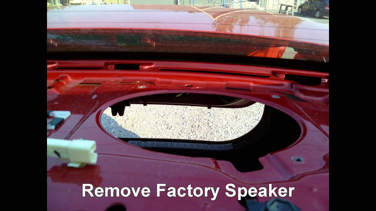 How To Replace Rear Deck Speakers In A Toyota Corolla