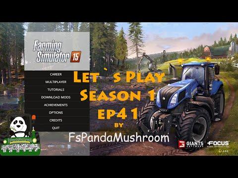 Farming Simulator15 Let`s Play Bjornholm S1 ep41(Auto Combine)