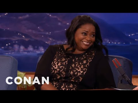Octavia Spencer Gave Big Bear Hugs To Oprah & Steven Spielberg  - CONAN on TBS