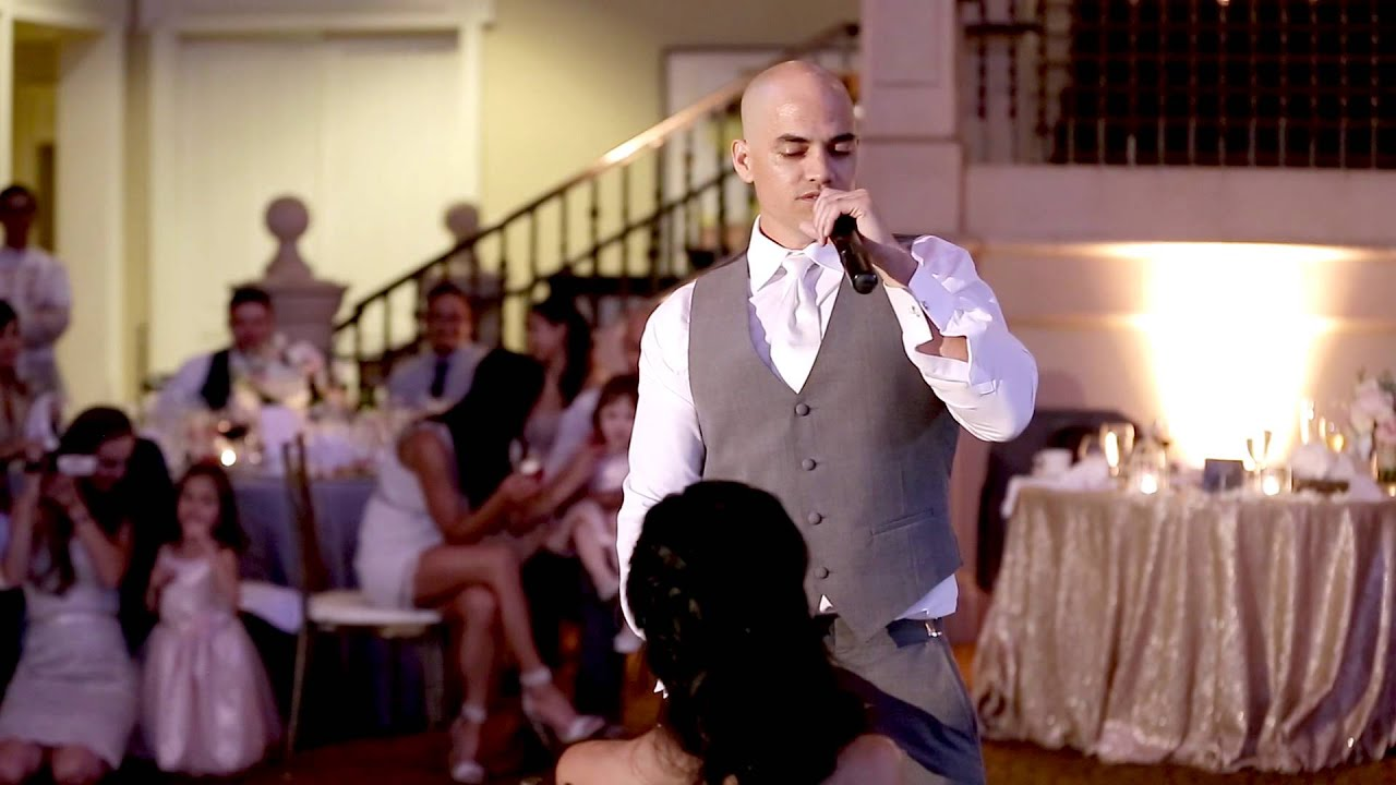 Groom Sings John Legend All Of Me To Bride At Wedding Youtube