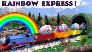 Thomas and Friends Game with Kinder Surprise Eggs on The Rainbow Express for kids and children TT4U