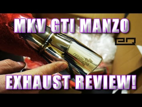 MKV GTI Manzo (eBay) Exhaust Review and Sound Clips!