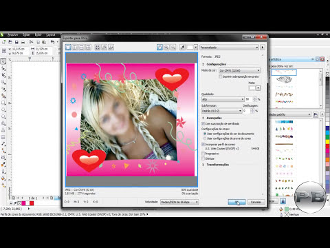 Como criar moldura para fotos, How to create photo frame no Corel Draw X6