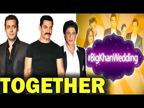 Salman Khan, Shahrukh Khan, & Aamir Khan together at Arpita Khan's Wedding | TOP STORY