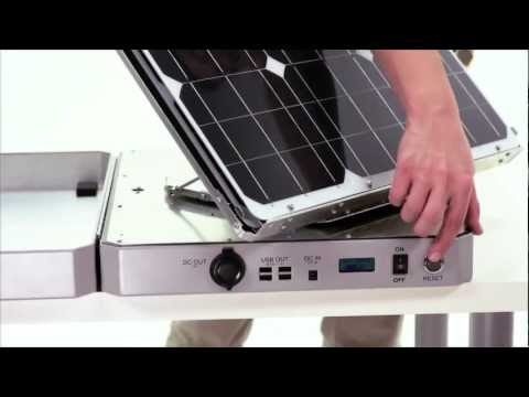 SUNSOCKET SUN-TRACKING SOLAR GENERATOR DEMO by AspectSolar