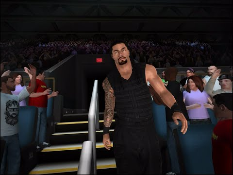 Wwe 2k Gameplay: Roman Reigns Entrance, Roman Reigns Vs Big Show (wwe 2k Ios) video