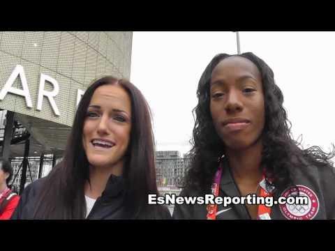 USA Track & Field Stars Brigetta Barrett and Georganne Moline - invade london