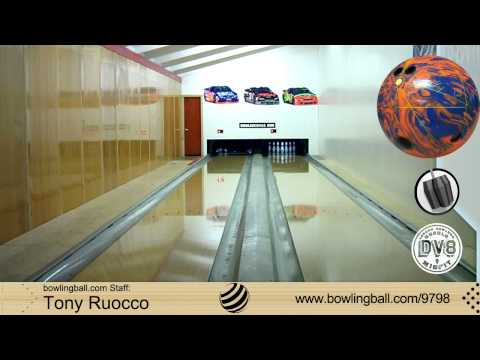 DV8 Misfit Orange/Blue Bowling Ball Reaction Video by bowlingball.com