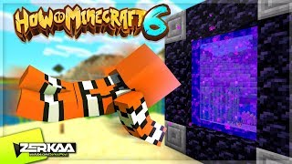 🔴 VISITING THE NETHER FOR THE FIRST TIME! (How To Minecraft 6 LIVE)