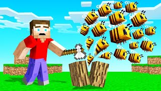 MINECRAFT But Every BLOCK You BREAK Spawns BEES!