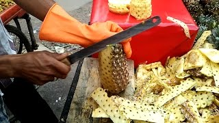 Amazing Fruits Cutting Skills || How to Pineapple Cut Fruits || Mango, Watermelon || Street Food