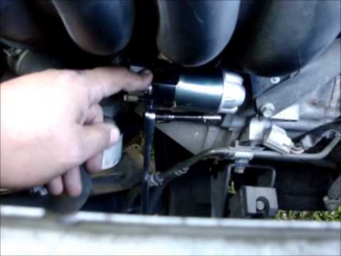 Toyota Matrix Starter Removal Youtube