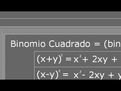 Multiplicación de binomios cuadrados precálculo 01.043