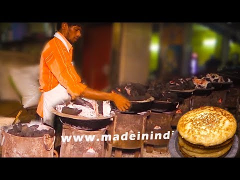 Very Rare Style of Making Pan Sponge Naan | Andhra Dibba Rotti | StreetFood