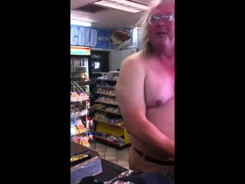 An Old Man Get Naked In The Store video