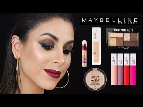 Maquillaje con 1 marca: MAYBELLINE · Favoritos + Productos Nuevos + Reviews + Tutorial
