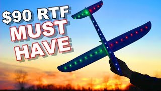 $90 Must Have RC Airplane - Beginner RTF with LED Lights Night Glider - XK A700C - TheRcSaylors
