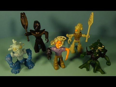 2002 LEGO GALIDOR SET OF 5 McDONALD'S HAPPY MEAL KID'S TOY'S VIDEO REVIEW