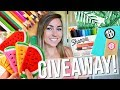 BACK TO SCHOOL SUPPLIES HAUL + GIVEAWAY 2017!!