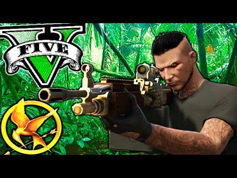 JUEGOS DEL HAMBRE REY DE LA SELVA!! (MINIJUEGO) GTA 5 ONLINE Makiman