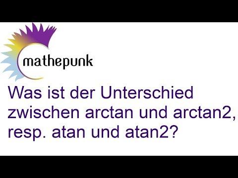 Was ist der Unterschied zwischen arctan und arctan2, resp. atan und atan2?