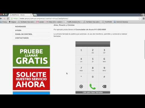 Central Virtual Anura - Telefono Web - WebPhone - Prueba Gratis