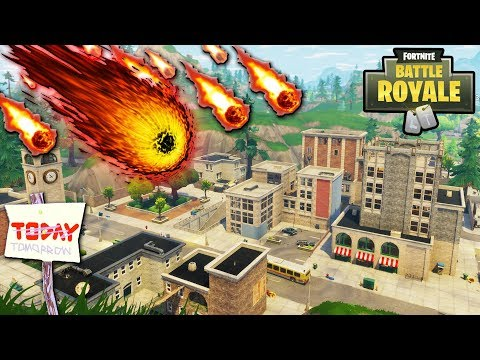 """NEW """"Tilted Towers"""" DESTROYED BY METEOR TODAY?! TILTED METEOR STRIKE CONFIRMED by EPIC! (Fortnite)"""