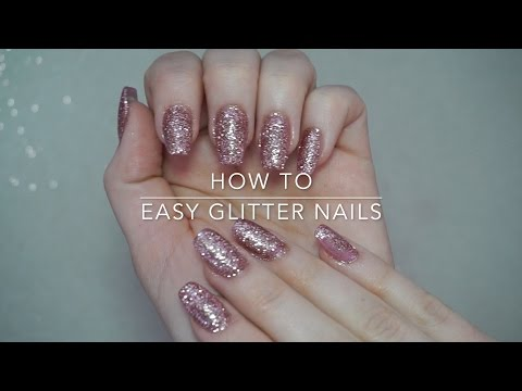 How To   Easy Glitter Nails Rose Gold