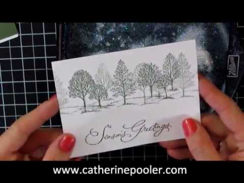 Christmas Card Making Series #1 Stampin' Up Lovely as a Tree with Catherine Pooler