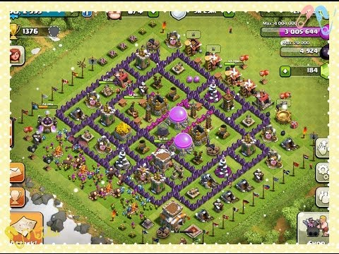 Clash of Clans Townhall Level 8 defense strategy