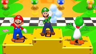Mario Party 9 - Minigames - Mario vs Luigi vs Yoshi vs Peach (Master CPU)