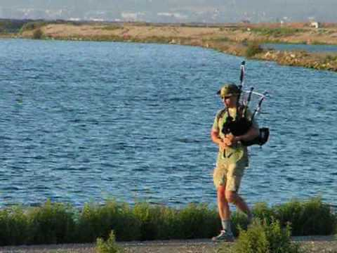 The Piper - Bagpipes at San Francisco Baylands (November 2008)