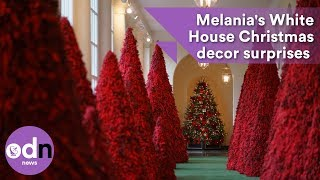 Melania's White House Christmas decor surprises again