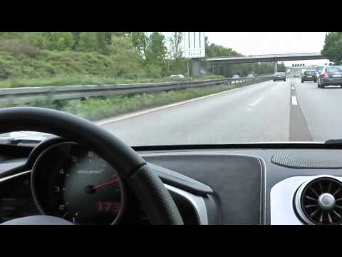 McLaren MP4-12C Ride on German Autobahn - Loud Sound!
