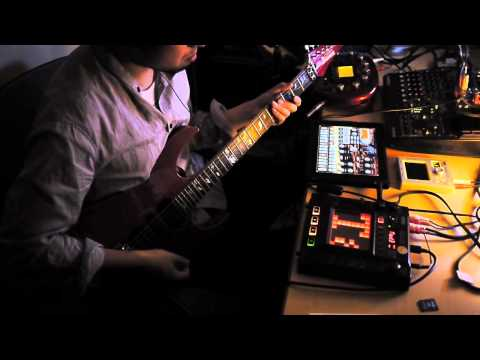 KORG Kaossilator, KP3, iElectribe on iPad, and Guitar song -