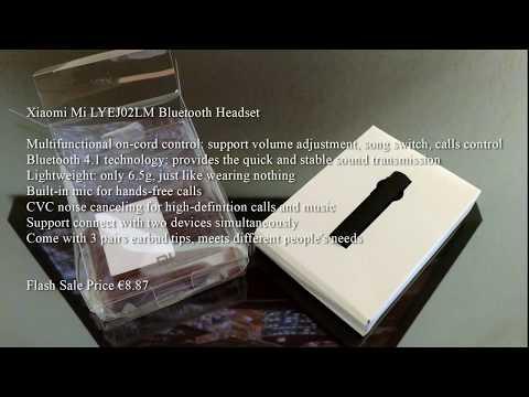 Xiaomi Mi LYEJ02LM Bluetooth Headset Guter Preis gute Quali (Mini Sonntags Video)