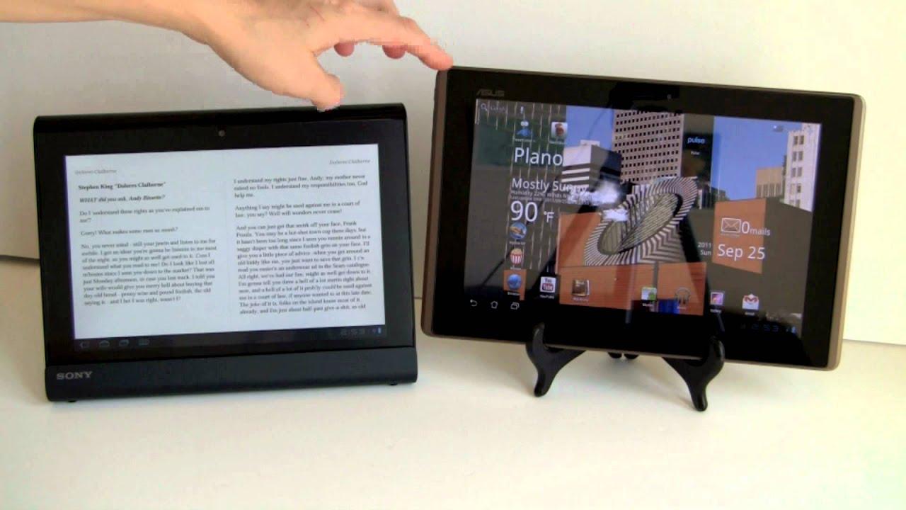 Asus Eee Pad Transformer vs. Sony Tablet S Comparison ...