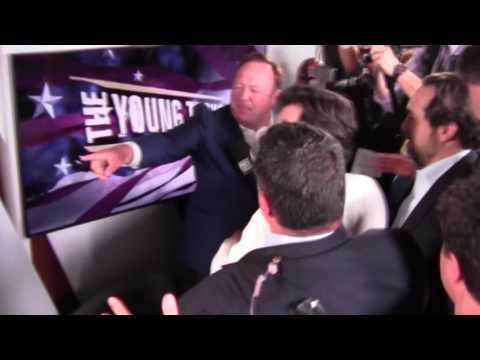 Alex Jones Crashes Young Turks Show, Gets Spit-On by Jimmy Dore!