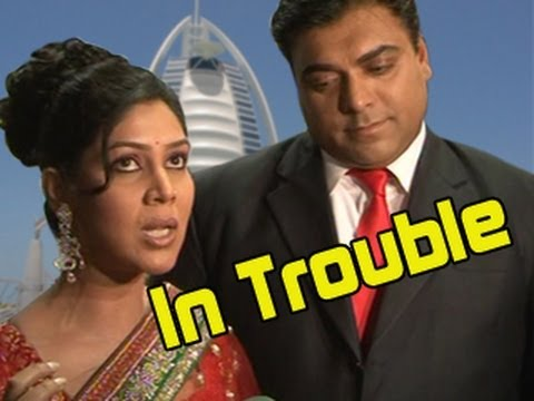 Priya & Ram Kapoor TROUBLED IN DUBAI for Bade Acche Lagte Hain 12th July 2012