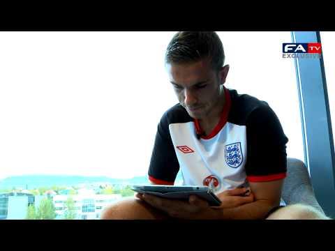 Jordan Henderson answers Twitter questions | Iceland v England 06/10/11