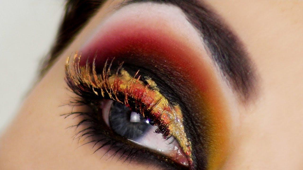 Makeup Ideas fire makeup : Eyes on Fire - Hunger Games Catching Fire Inspired Makeup - YouTube