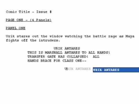 Movie Magic Screenwriter and Comic Book scripts