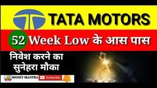TATA MOTORS 52 Week Low के आस पास, निवेश करने का सुनेहरा मौका