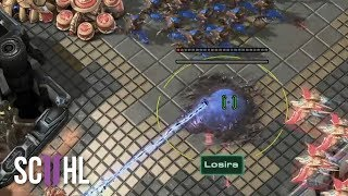 Hatchery used as Forcefield?! - StarCraft 2: Losira vs Trap