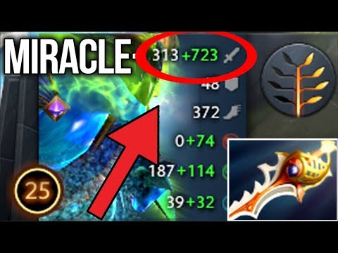 Miracle- Morphling GOD WTF?! IS THIS DAMAGE Divine Rapier Build - Dota 2
