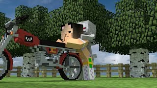 Monster School: Motorcycle Racing & Funny Videos Compilation - Minecraft Animation