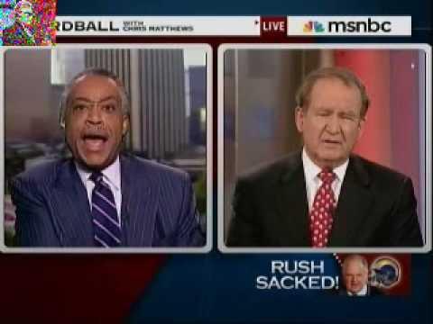 Al Sharpton vs. Pat Buchanan Re: Rush Limbaugh Sacked By Rams