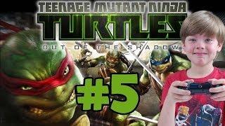 Playing Teenage Mutant Ninja Turtles: Out of the Shadows (Part 5) (KID GAMING)