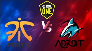 🔴[Dota 2 LIVE] Fnatic vs Adroit (Bo3) ESL One Birmingham 2020